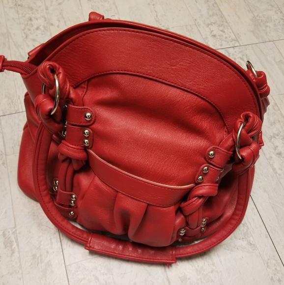 Epiphanie Handbags - Red Epiphanie Lola Purse/Camera Bag. Vegan Leather